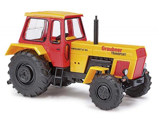 """Fortschritt Traktor ZT 303 """"Graubner Transport"""" Baujahr 1967 Modell von Espewe 1:87"""