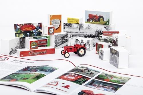 Oldtimer-Traktor Adventskalender mit Bausatz Porsche Master 419 1:43
