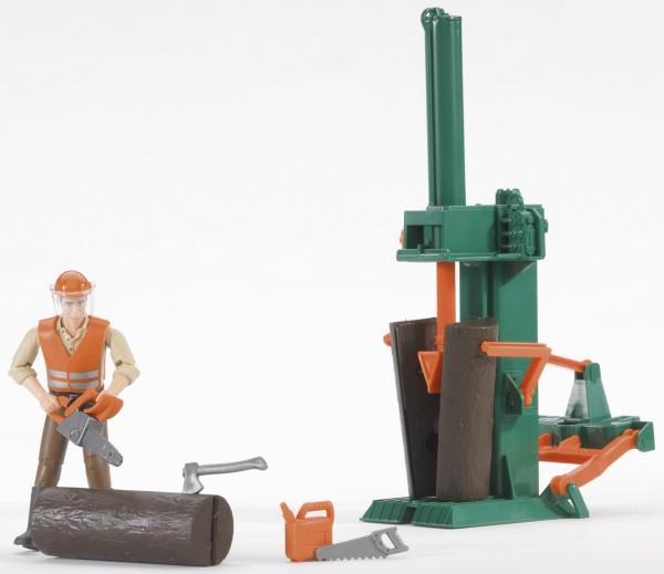 Holzspalter Forstwirtschaft (Kleidungsfarben gemischt sortiert) Modell von Bruder