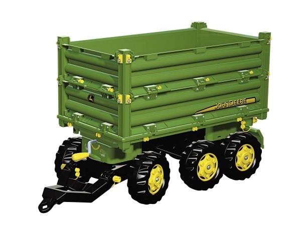 Multi Trailer Dreiseitenkipper mit Kurbel John Deere grün von rolly toys