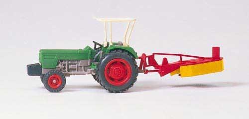DEUTZ D 6206 mit Kreiselmäher (Bausatz) Modell von Preiser 1:87