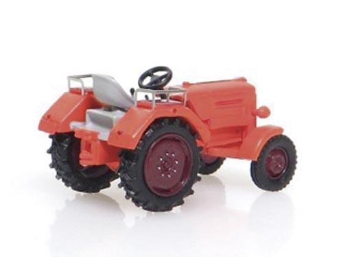 Borgward Traktor –Prototyp– orange Modell von NPE Modellbau 1:87