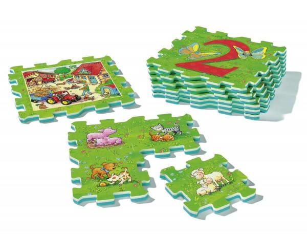 Puzzle Erstes Zählen und Bauernhoftiere