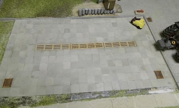 Gehwegplatten 50 x 50 hellgrau 180 Stck. Modell von Juweela 1:32