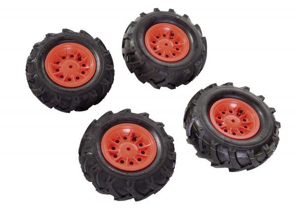Luftbereifung für Traktoren rot (Set)