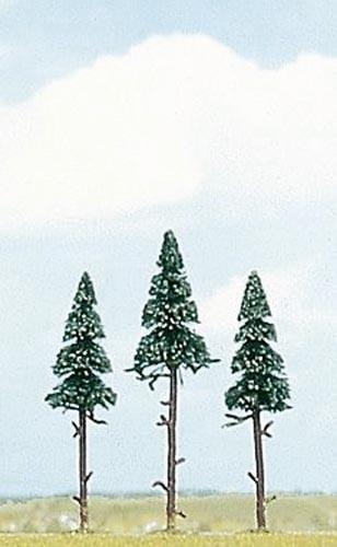 3 Hochstamm-Fichten (10 und 11,5 cm) Modell von Busch 1:87