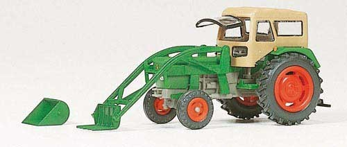 Deutz Ackerschlepper D 6206 mit BAAS-Lader und Fritzmeier Verdeck (Fertigmodell) Modell von Preiser