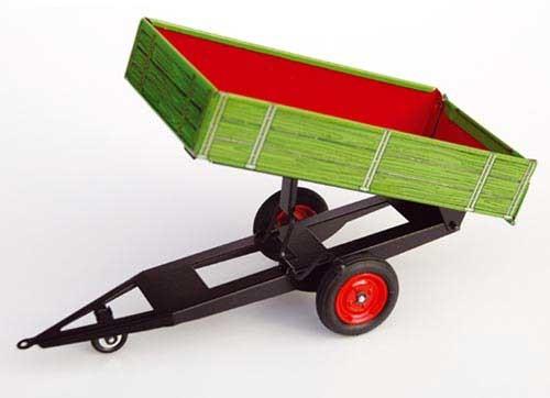 Einachskippanhänger (grün/rot) Modell von Kovap 1:25