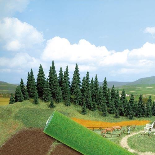 Gelände-Teppich (dunkelgrün) Modell von Busch 1:87