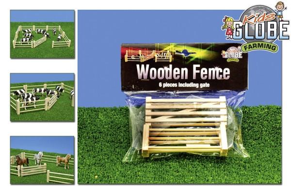 Weidezaun, bestehend aus 6 Elementen inkl. Weidetor Modell von Kids Globe 1:32