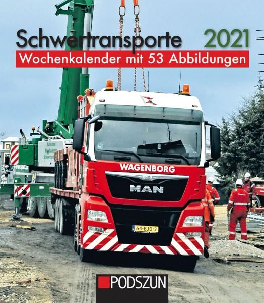 Schwertransporte 2021 Wochenkalender