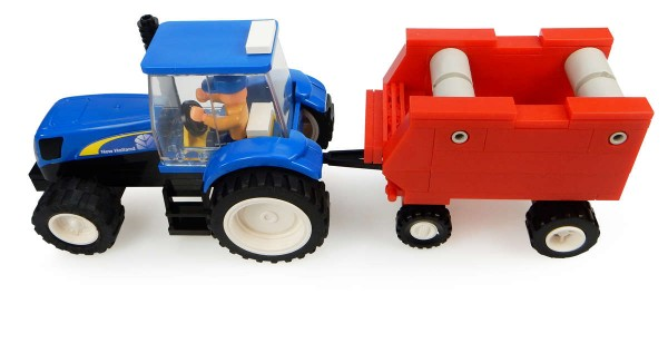 UH Kids New Holland Traktor mit Ballenpresse Bausatz