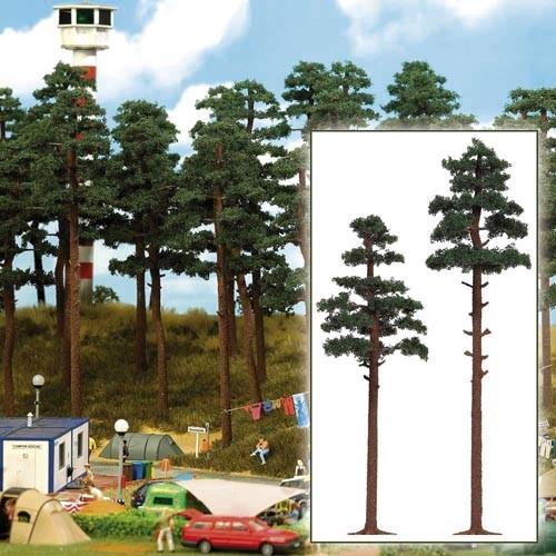 2 Kiefern (17,5 cm und 21 cm) Modell von Busch 1:87