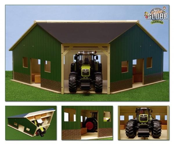 Holz Eck Scheune, anbaufähig, für Bruder Fahrzeuge 1:16 Modell von Kids Globe 1:16