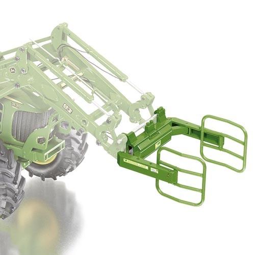 Frontladerwerkzeuge Set A - John Deere grün Modell von WIKING 1:32
