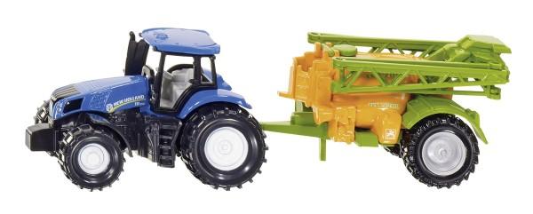 New Holland Traktor mit Feldspritze Modell von Siku