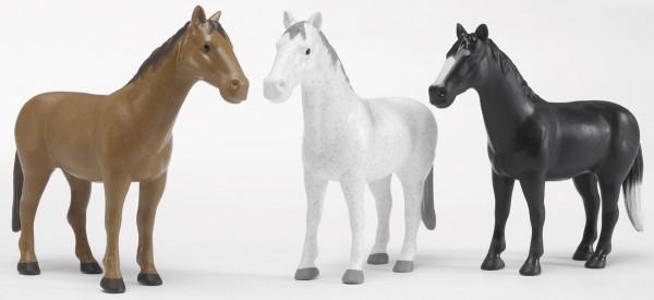 Pferd (in braun, schwarz oder weiß) Modell von Bruder Profi 1:16