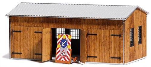 Fahrzeughalle (Bausatz) Modell von Busch 1:87