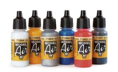 Airbrush Farbenset (6 Farben) Modell von herpa