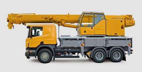 Teleskop-Kranwagen MAN Modell von Siku 1:87