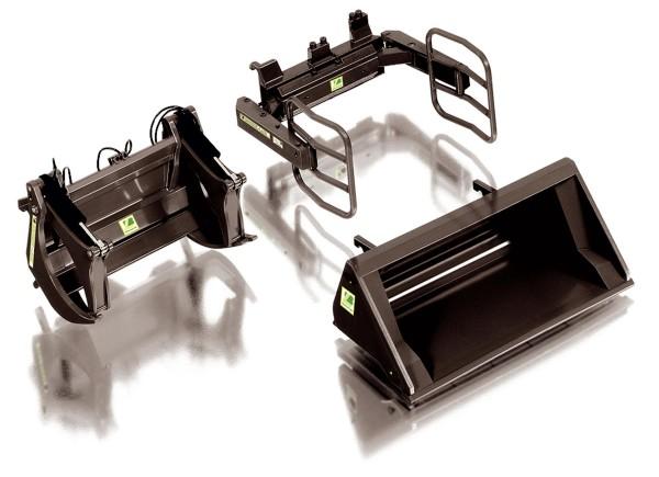 Frontlader-Werkzeuge Bressel & Lade - Set A - (schwarz) Modell von WIKING 1:32