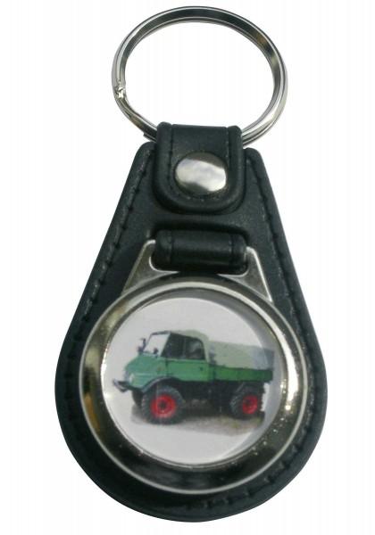 Schlüsselanhänger Unimog mit Einkaufswagen-Chip Modell