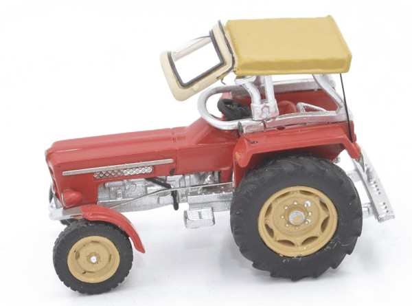 Schlüter Traktor Super 550 V rot Modell von NPE Modellbau 1:87