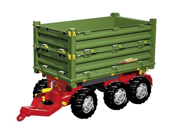 Multi Trailer Dreiseitenkipper mit Kurbel grün/rot von rolly toys