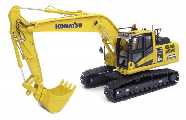 "Komatsu PC200i-10 Kettenbagger ""intelligent machine control"" Modell von Universal Hobbies 1:50"