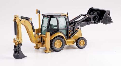 CAT 432E Baggerlader mit Arbeitsgeräten Modell von DieCast 1:50