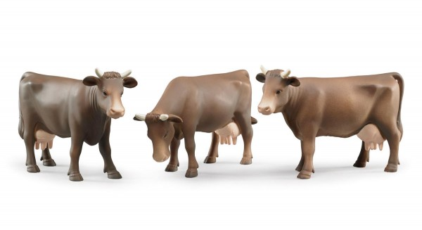 1 Kuh braun (sortiert) Modell von Bruder 1:16