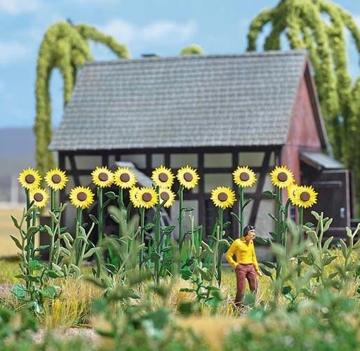 Riesen-Sonnenblumen Modell von Busch 1:87