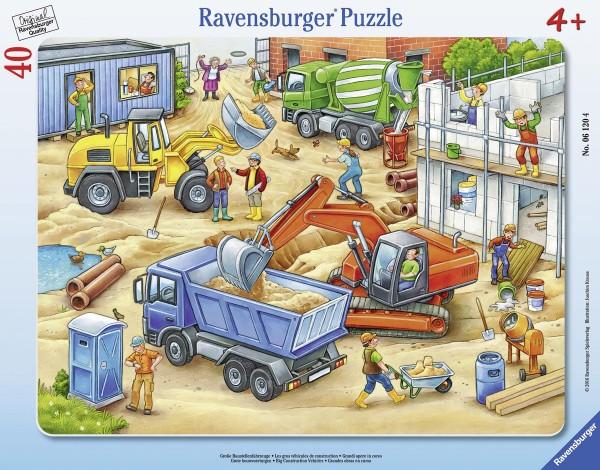 Rahmenpuzzle Große Baustellenfahrzeuge