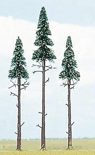 3 Hochstamm-Fichten (13 und 17 cm) Modell von Busch 1:87