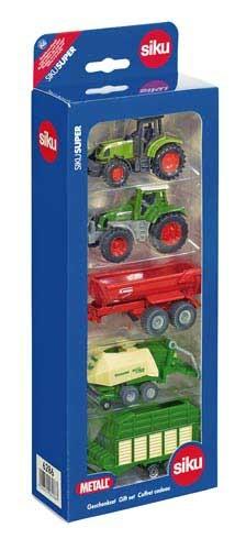 5er Geschenkset mit Claas, Fendt, Krampe, Krone Großpackenpresse und Silagewagen Modell von Siku