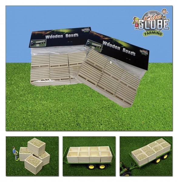 Holzkisten für Feldfrüchte (6 Stk.) Modell von Kids Globe 1:32