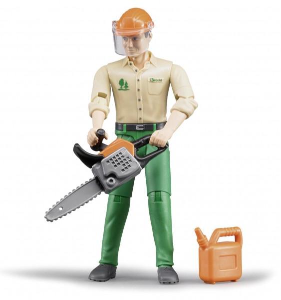 Forstarbeiter mit Zubehör Modell von Bruder bworld