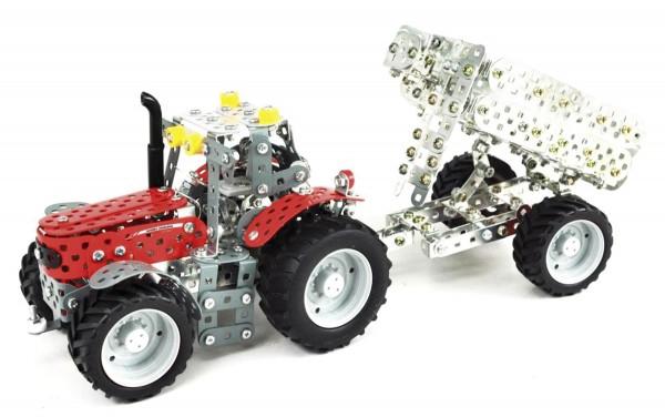 Massey Ferguson 5610 mit Anhänger Metallbaukasten (Mini Serie) Modell von Tronico 1:32