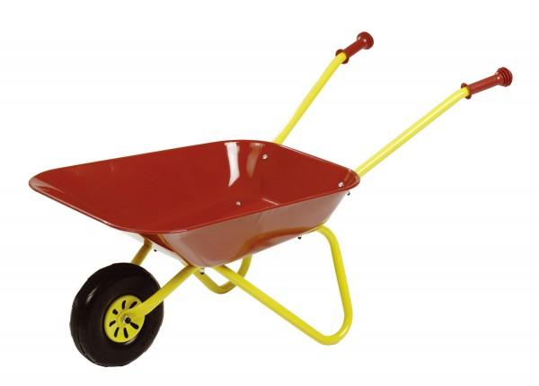 Schubkarre gelb/rot Metall von rolly toys